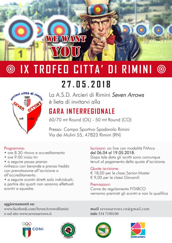 Calendario Gare Fitarco.Seven Arrows Rimini