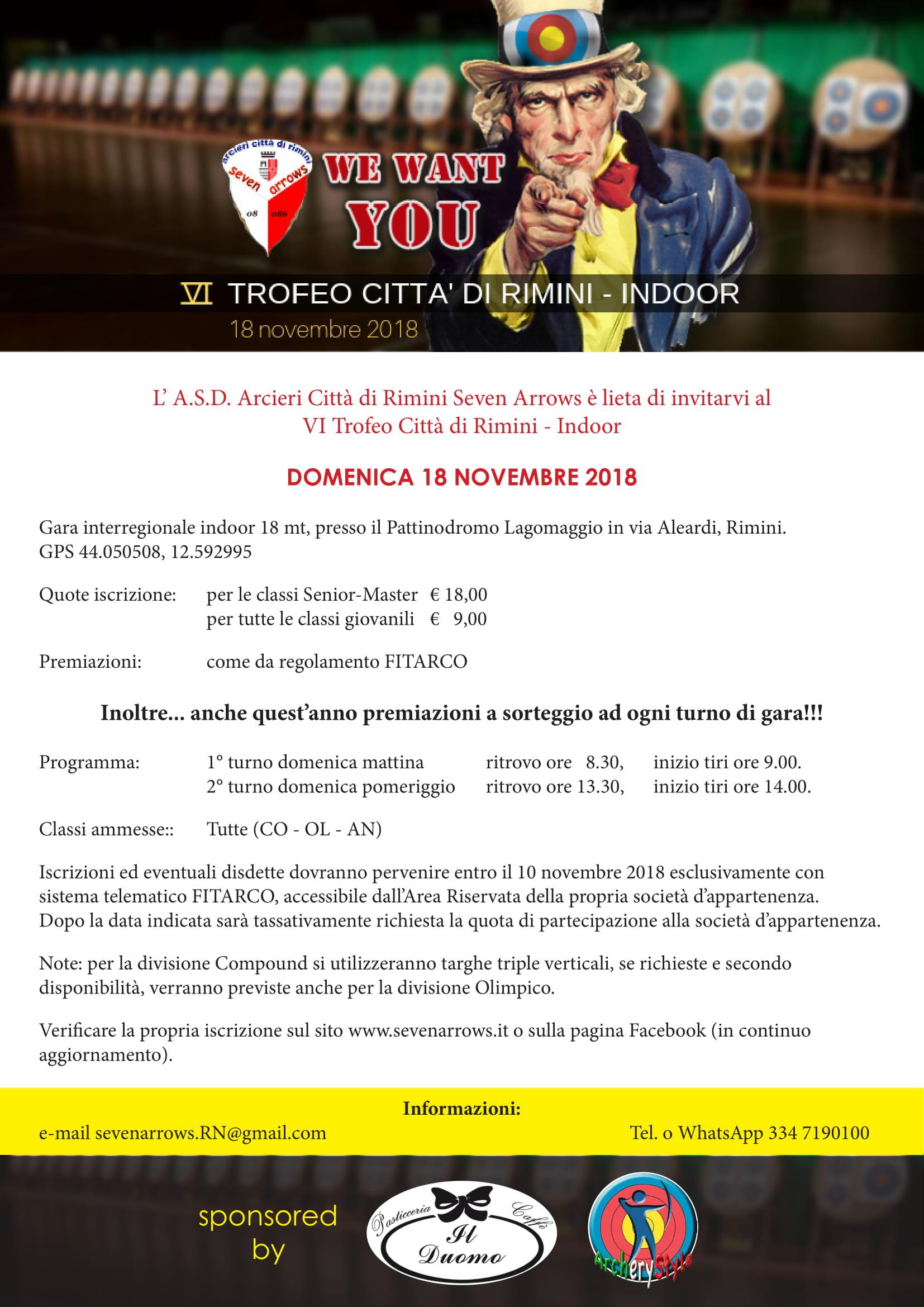 Fitarco Italia Org Gare Calendario.Seven Arrows Rimini
